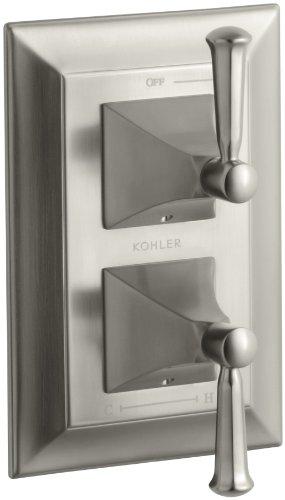 KOHLER K-T10422-4S-BN Memoirs Stacked Valve Trim with Stately Design, Vibrant Brushed Nickel ()