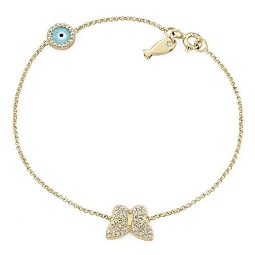 Victoria White Diamond Butterfly Bracelet product image