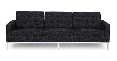 Kardiel Florence Knoll Style Sofa 3 Seat, Graphite Retrospec