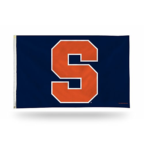 (Rico Industries NCAA Syracuse Orange 3-Foot by 5-Foot Single Sided Banner Flag with Grommets )