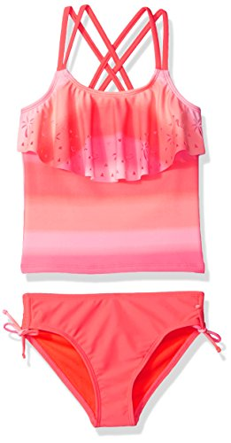 Angel Beach Big Girls' Swim Ombre Glow Tankini Set, Multi, 7