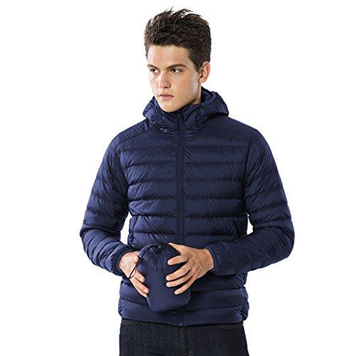 - TAK Men's Puffer Down Jacket Packable Ultra Light Coat (04-Navy Blue, L (US M))