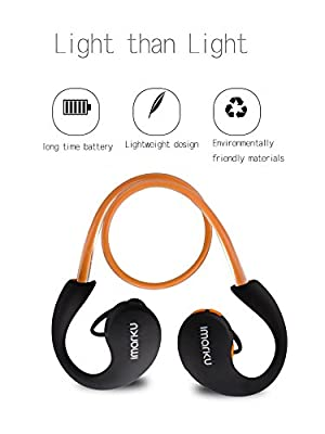Bluetooth Headphones Running, Imarku Sport Bluetooth Wireless Headset Headphone Earphone with Bluetooth CSR 4.0 Compatible with Apple Iphone 6 / 6 Plus Android Devices and Tablets