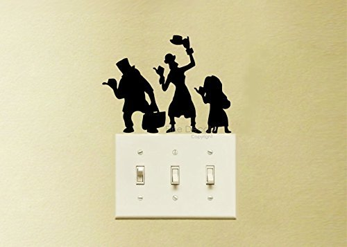 Hitch Hiking Ghosts The Haunted Mansion Vinyl Decal Sticker Light Switch Kids Nursery Room (Disney Halloween Art)