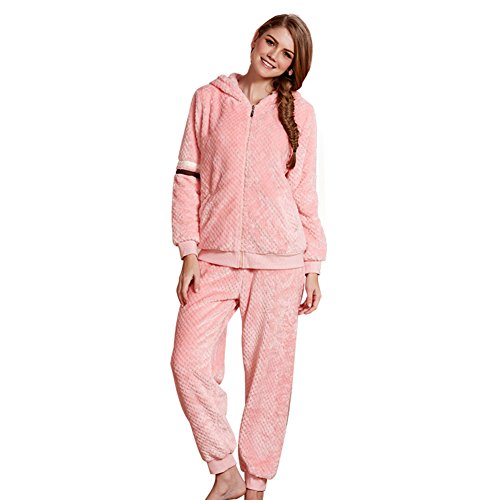 set im Herbst und Winter/Ladies gepolstert Flanellpyjamas/ Langarm Heimservice/ warmen Heimat Pyjamas-A M