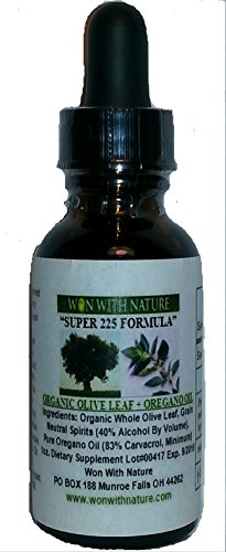 Super 225 Olive Leaf-Oregano Oil Formula. 1 Ounce. Buy Two, Get One Free! 83% Carvacrol Oregano + Olive Leaf Extract.