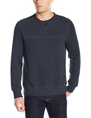 G.H. Bass & Co. Men's Mountain Wash Fleece Crew Long Sleeve Sweatshirt, Medium, Night Sky Heather