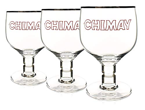 Chimay 3-Pack Original Goblet Chalice Beer Glasses, 33cl by Chimay