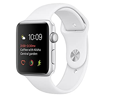 Apple Watch Series 2 38mm Smartwatch (Space Gray model sport model with a black silicon band)