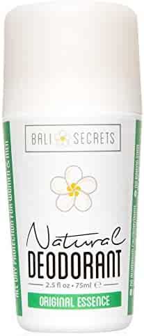 Bali Secrets Natural Deodorant – Organic & Vegan – For Women & Men – All Day Fresh – Strong & Reliable Protection – 2.4 fl.oz/75ml [Scent: Original Essence