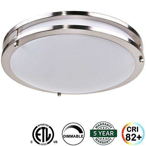 Contemporary Overhead Flush Lighting (Hykolity 12
