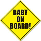 """BABY ON BOARD baby safety sign car sticker 5"""" x 5"""""""