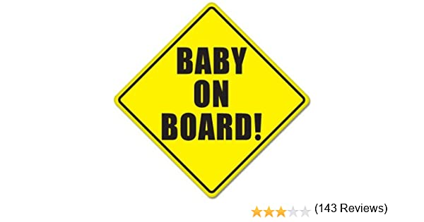 Amazoncom BABY ON BOARD Baby Safety Sign Car Sticker X Baby - Car sign meaningsfunny alternative road signs car keys
