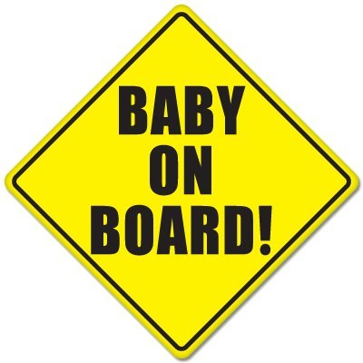 "BABY ON BOARD baby safety sign car sticker 5"" x 5"""