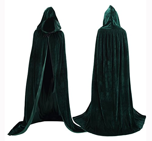 [Tuliptrend Unisex Hooded Cloak Costume Party Cape Wedding Cape Small] (Purple Hooded Cape)