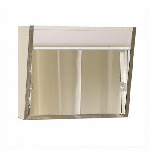American Pride 700L Aluminum Medicine Cabinet, 2 Lite, No Outlet, 24