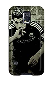 Anti-scratch And Shatterproof Luis Suarez Phone Case For Galaxy S5/ High Quality Tpu Case