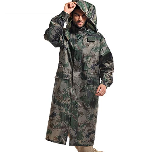 - RENLEINB Men Woodland Digital Camouflage Coat Style Water-Resistant Raincoat (Size : XL)