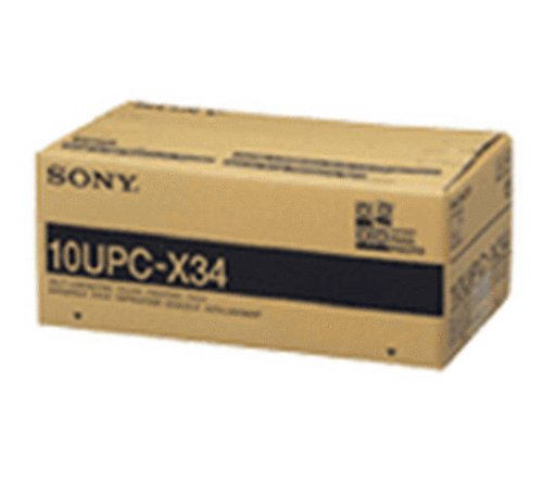 DNP 10UPC-X34 3.5'' x 4'' Self-Laminating Color Printing Pack for the Sony UPX-C100 & UPX-C200 Digital Printing System by DNP