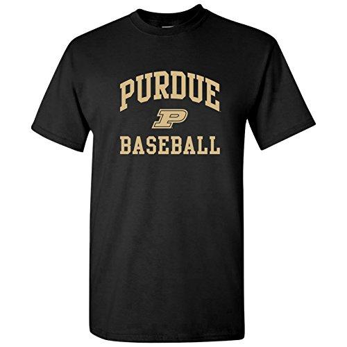 UGP Campus Apparel AS1095 - Purdue Boilermakers Arch Logo Baseball T-Shirt - Medium - Black