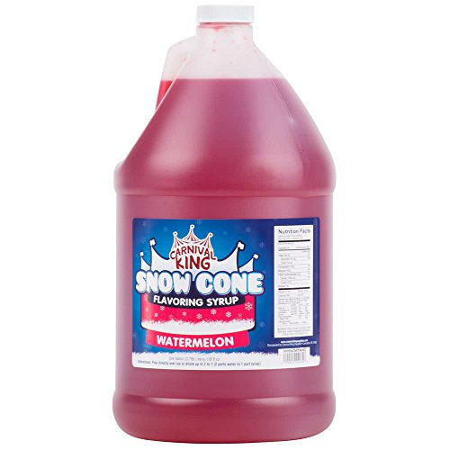 Tabletop King 1 Gallon Watermelon Snow Cone Syrup - 4/Case