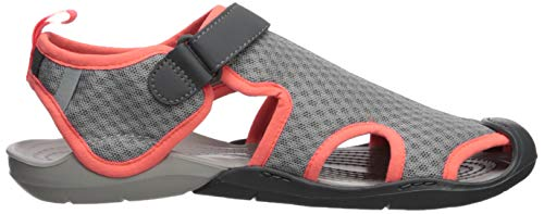 Women Bout Crocs Fermé Femme light pearl Mesh Sandals Swiftwater Gris 01s White Grey rqgxtgI