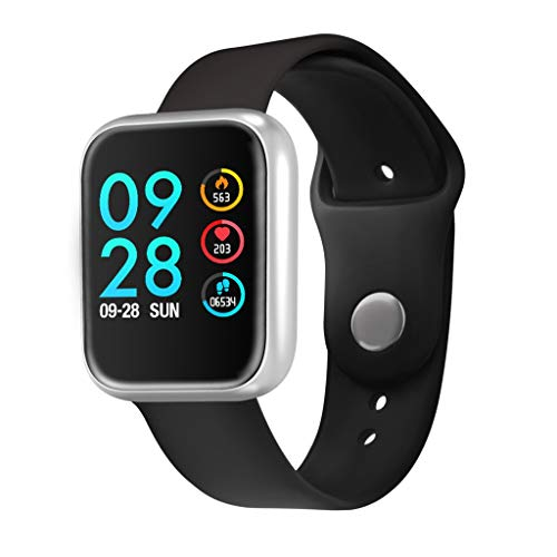 - Nesee 1.3 Inch Fitness Tracker Smart Watch, IP68 Waterproof Activity Tracker with Heart Rate Monitor, Wearable Smart Bracelet Sleep Monitor Step Counter Pedometer Watch for Men Woman (Silver)