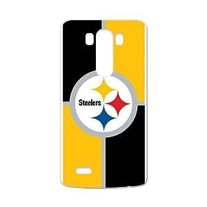 RAROFU New Style Pittsburgh Steelers Custom Case for LG G3 (Laser Technology)