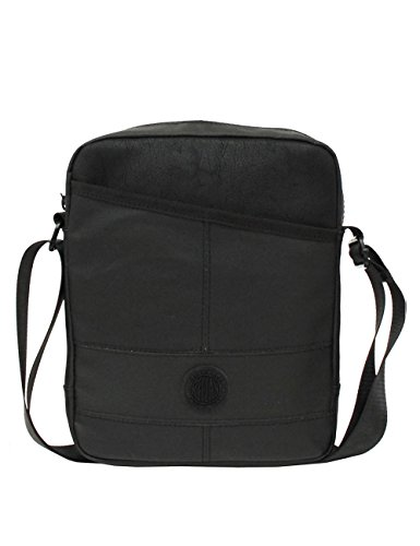 Algodón talla Negro negro para hombre de Replay al única hombro Bolso Denim negro qxRIZPTw4
