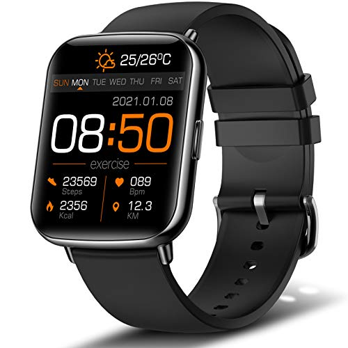 """andfive Smart Watch, 1.69"""" Touch Screen Fitness Tracker for Men Women, IP68 Waterproof Smartwatch with Heart Rate…"""