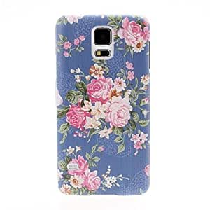 WEV Small Fresh Florals Purple Plastic Hard Case for Samsung Galaxy S5 I9600