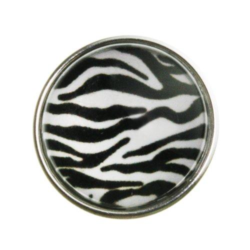 Hidden Gems - 1 x Chunk Clique Bouton Boutons à Pression Pour Bracelet, imprimé zèbre