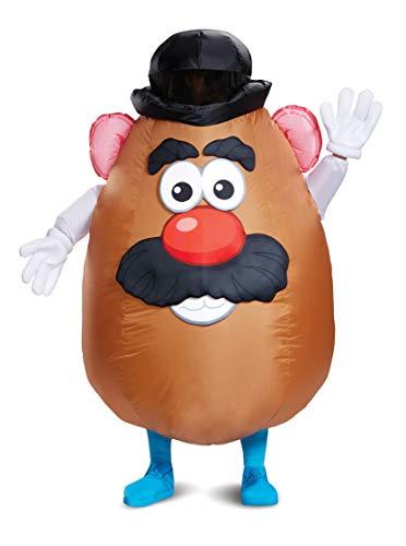 Mr Potato Head Cartoons - Disguise Men's Mr. Potato Head Inflatable Adult Costume, Brown, One Size