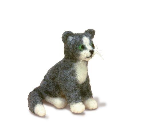 Beaded Dimensional Embroidery (Dimensions Needlecrafts Needle Felted Character Kit, Cat)