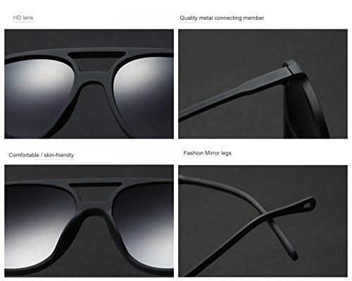 soleil Bmeigo Goggles Lens Protection Homme Gradient Ovale de Lunettes Femme Lunettes UV400 Eyewear B03 qZ1ftp