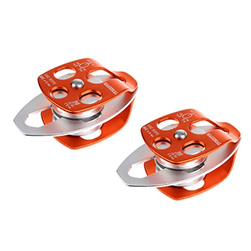 - MonkeyJack 2 Pieces 32KN Double Pulley Aluminum Ball Bearings For Climbing Rescue