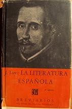 La Literatura Espanola (Breviarios, 56) by…