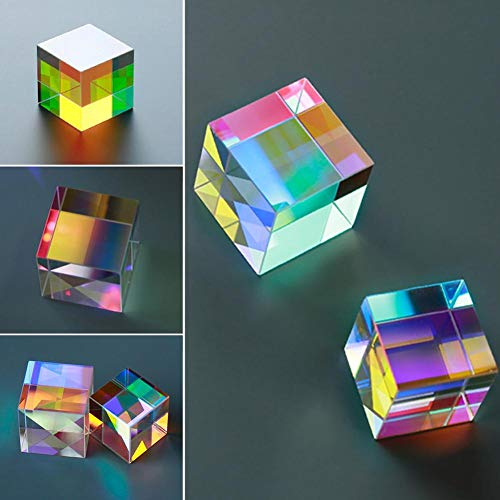 Sided Stained Glass - Optical Glass X-Cube Six-Sided Bright Light Cube Stained Glass Prism Beam Splitting Prism Optical Home Decoration Experiment Instrument Optical Lens