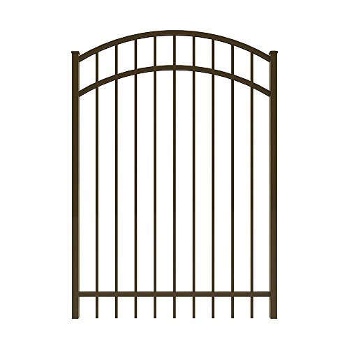 FORGERIGHT Vinnings 4 ft. W x 5 ft. H Bronze Aluminum Arched Fence Gate - Arched Fence Gate
