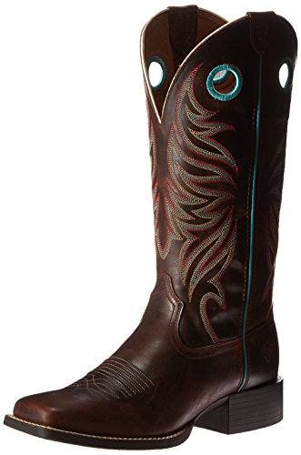 - Ariat Women's Round Up Ryder Western Cowboy Boot, Sassy Brown, 7.5 B US