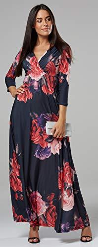 5 Clark Style Länge Halbe 586z Kleid Chelsea Damen Gemustert Maxi Hülsen Eine Linie qwP7pdP