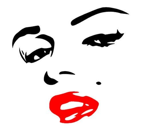 SEXY Marilyn Marilyn Monroe Face Red Lips 6