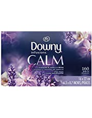 Downy Infusions Fabric Softener Dryer Sheets, Calm, lavender & Vanilla bean 160 count