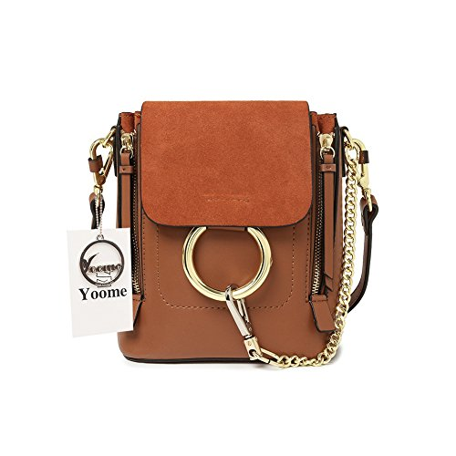 Yoome Casual Women's Retro Circular Ring Chain Bag Fashion Dull Polish Makeup Pouch For Girls