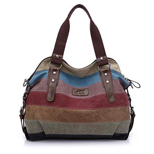 LANDONA Le nouveau sac à bandoulière en toile style sac de sac à main rayé de couleur frappé dame sac Messenger occasionnels sac à main - rayures