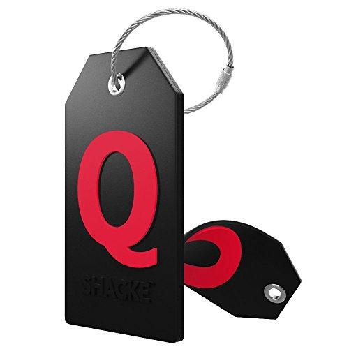 identificador de valija mochila acero inoxidable letra Q