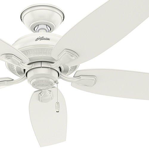 "Hunter Fan 52"" Indoor/Outdoor Ceiling Fan in Fresh White, 5 blade - Rust Resistant (Certified Refurbished)"