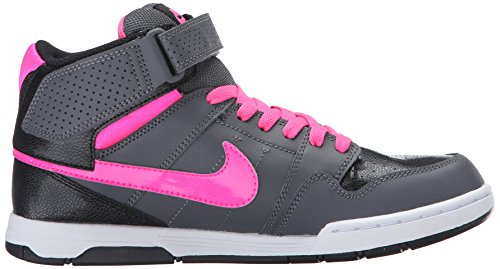 Zapatillas Nike Kids Mogan Mid 2 Jr Skateboarding Gris Oscuro / Rosa Blast / Negro / Blanco