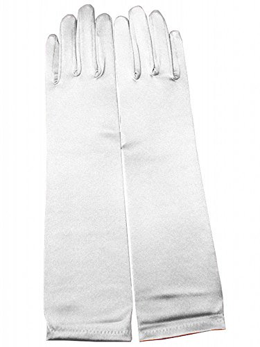 Miranda's Bridal Women's Wedding Formal Satin Gloves Costume Glove -