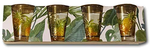 Tommy Bahama Pineapple Design Acrylic Drinking Glass Tumbler (set of ()